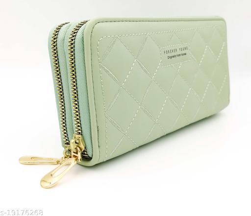 Valerie Women Girls Wallets Double Zipper Clutch Purse Handbag Wallets