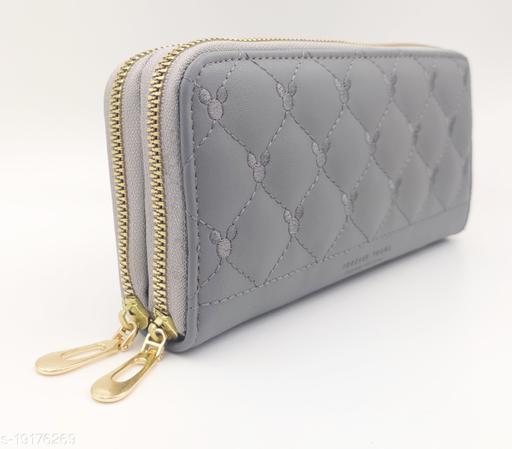 Trendy Women's Grey PU Wallet