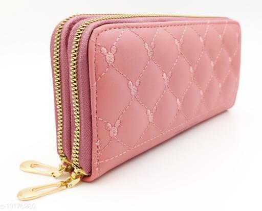 Beautiful Women's Pink PU Wallet