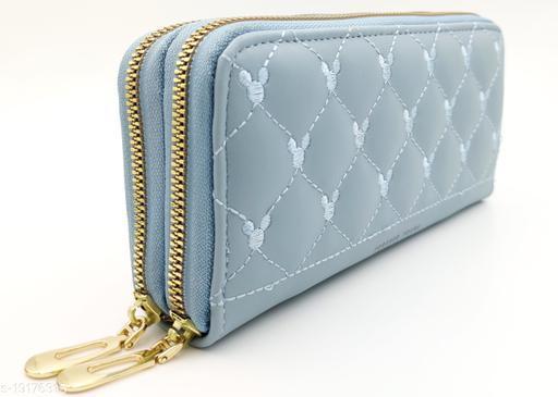 Beautiful Women's Blue PU Handbag
