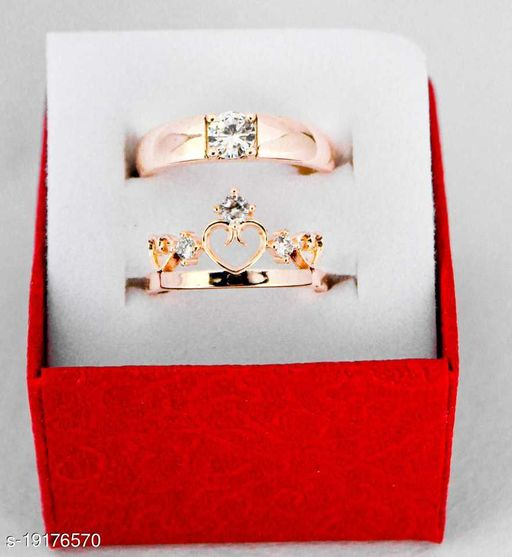 Adjustable Couple Rings Valentine Gifts Couple Rings for Girls and Boys Valentine Day Propose Your Girlfriend