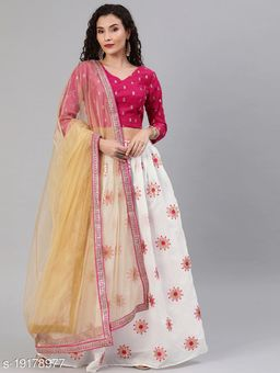 Tiya Attractive Silk Semi-Stitched Women's Lehenga Cholis