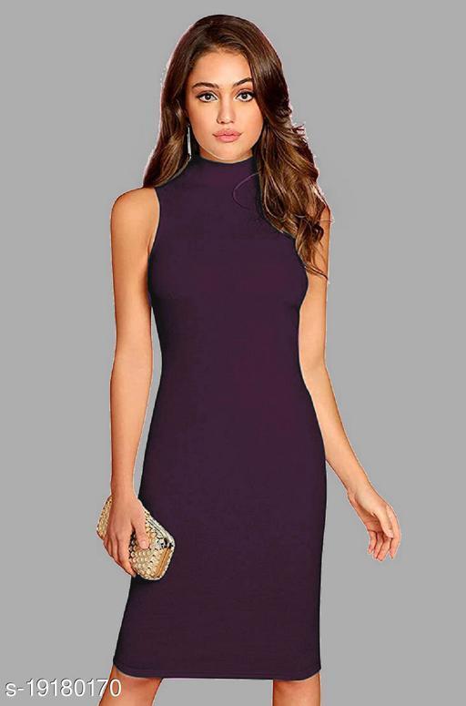 Women's high neck sleeveless dress