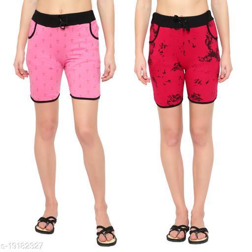 MYO printed shorts for women pack of 2