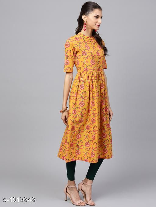 Kurtis & Kurtas Women's Printed Cotton Anarkali Kurti Fabric: Cotton Sleeves: Sleeves Are Included   Size:XS - 34 in, S - 36 in, M - 38 in, L- 40 in, XL- 42 in, XXL - 44 in Length: Up To 44 in Type: Stitched Description: It Has 1 Piece Of Women's Kurti Work : Printed Sizes Available: XS, S, M, L, XL, XXL *Proof of Safe Delivery! Click to know on Safety Standards of Delivery Partners- https://ltl.sh/y_nZrAV3   Catalog Name: Yashvi Adorable Cotton Printed Women's Kurtis Vol 13 CatalogID_253254 C74-SC1001 Code: 747-1919343-