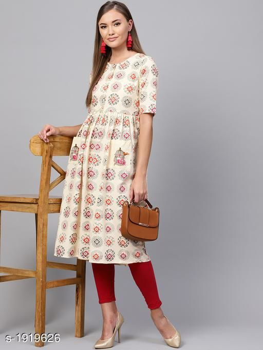 Kurtis & Kurtas Women's Printed Cotton Anarkali Kurti Fabric: Cotton Sleeves: 3/4 Sleeves Are Included   Size:XS - 34 in, S - 36 in, M - 38 in, L- 40 in, XL- 42 in, XXL - 44 in Length: Up To 44 in Type: Stitched Description: It Has 1 Piece Of Women's Kurti Work : Printed Sizes Available: XS, S, M, L, XL, XXL *Proof of Safe Delivery! Click to know on Safety Standards of Delivery Partners- https://ltl.sh/y_nZrAV3   Catalog Name: Yashvi Adorable Women's Kurtis  CatalogID_253276 C74-SC1001 Code: 809-1919626-