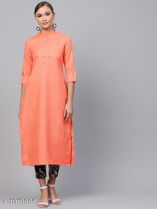 Kurtis & Kurtas Women's Solid Cotton Kurti Fabric: Cotton Sleeves:  Sleeves Are Included   Size : XS - 34 in, S - 36 in, M - 38 in, L- 40 in, XL- 42 in, XXL - 44 in Length: Up To 44 in Type: Stitched Description: It Has 1 Piece Of Women's Kurti Work : Printed Sizes Available: XS, S, M, L, XL, XXL *Proof of Safe Delivery! Click to know on Safety Standards of Delivery Partners- https://ltl.sh/y_nZrAV3   Catalog Name: Yashvi Adorable Cotton Printed Women's Kurtis Vol 14 CatalogID_253302 C74-SC1001 Code: 855-1919686-