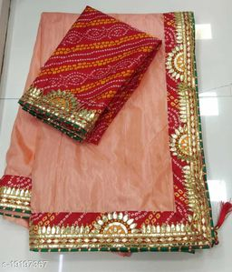 Fancy Emboidery Saree With Blouse