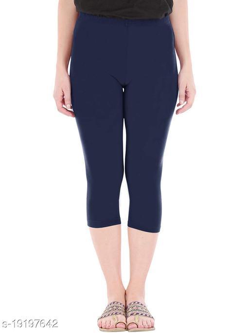 "LA25""s 3/4th Premium Capri for Women | short leggings for women/girls | Soft Stretcheble fabric | Dream-Girl Capri | Premium Soft Fabric |SIZE: S to 2XL"