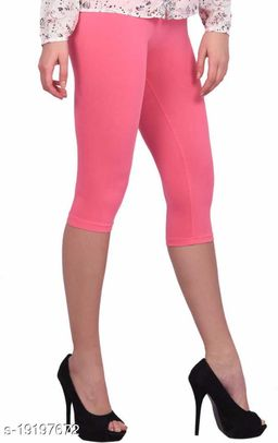 "LA25""s 3/4th Premium Capri for Women   short leggings for women/girls   Soft Stretcheble fabric   Dream-Girl Capri   Premium Soft Fabric  SIZE: S to 2XL"
