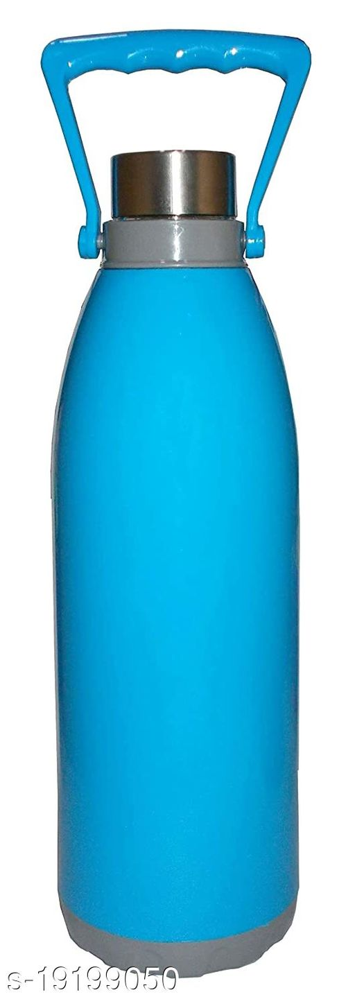 Kotak Sales Cool N Cool 1700ML Double Walled Insulated Water Bottle with Handle Unbreakable Design 1.7 Liter 100% Food Grade BPA Free for Travel Office Shopping Sports Picnic School Etc (Blue)