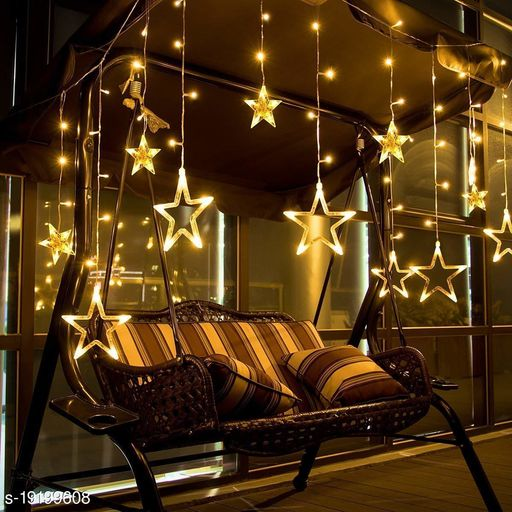 Tradehood (Warm White Star Curtain) 12Stars 138 LED Star Lights, Star String Lights for Bedroom with 8 Lighting Modes, Waterproof Fairy Lights for Bedroom, Party, Christmas Decorations Lights