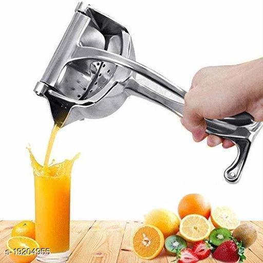 Fruit Juicer Hand Press Instant Orange Presser, Fruits-Lemon-Lime Squeezer, Simple Fruit Citrus Pressure Portable Manual Hand Press Heavy-Duty Newly Aluminum Alloy -Silver