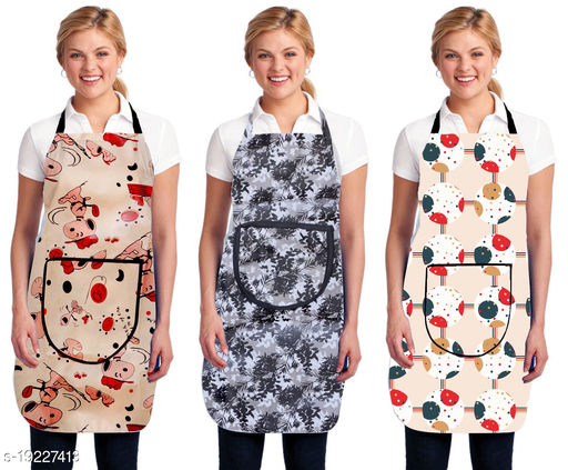 HG Home Apron For Kitchen Waterproof Pack Of 3