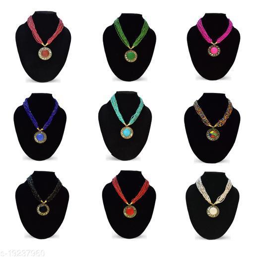 Stylish 8 Pcs Set Beads Necklace