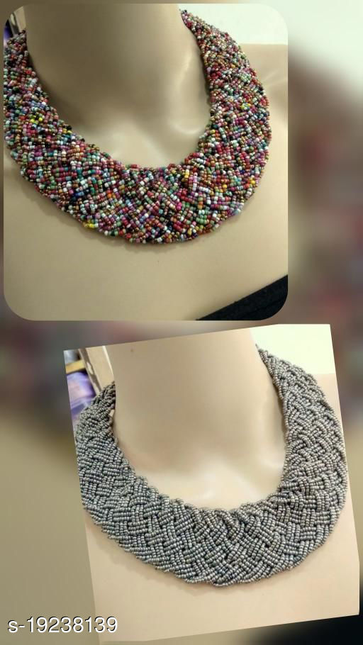 Alluring 2 Pcs Beaded Jewellery Combo Set