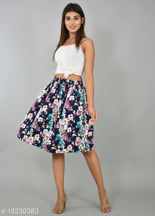 Girly Girls Printed Rayon Skirt (GSKTM106)