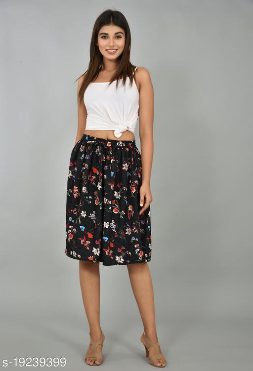 Girly Girls Printed Rayon Skirt (GSKTM105)