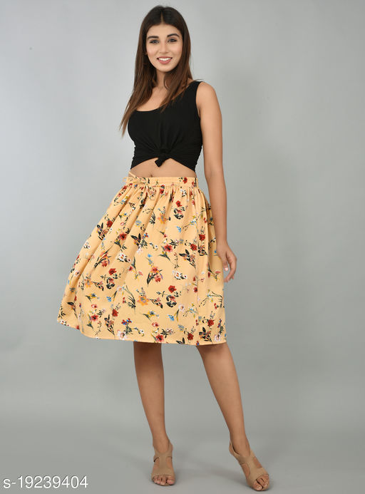Girly Girls Printed Rayon Skirt (GSKTM104)