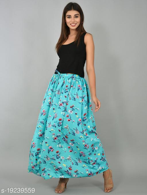 Girly Girls Printed Rayon Skirt (GSKT23)