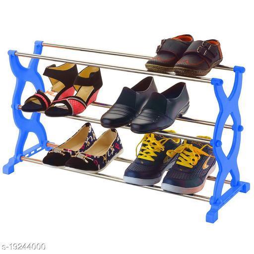 Foldable Shoe Rack with 3 Shelves