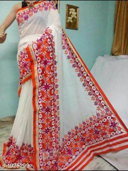 Charumatii Stylish Cotton Silk Saree