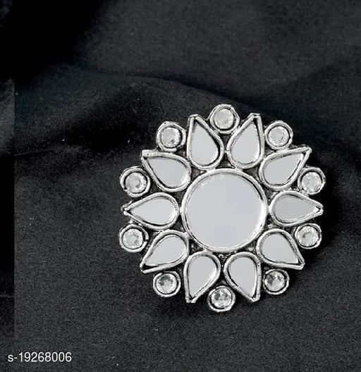 Strigehne Oxsidise Mirror Free Size Ring.