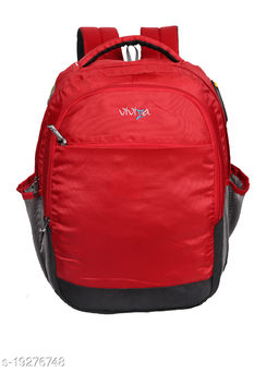 Viviza Bags Nylon 21 LTR School and College Backpack for Boys and Girls (Red)
