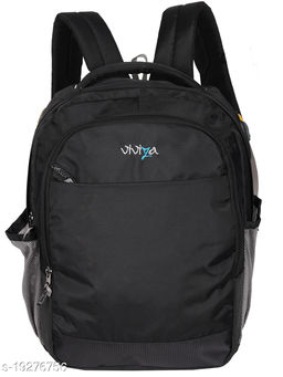 Viviza Bags Nylon 21 LTR School and College Backpack for Boys and Girls (Black)