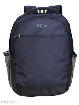 Viviza Bags Nylon 21 LTR School and College Backpack for Boys and Girls (Navy Blue)