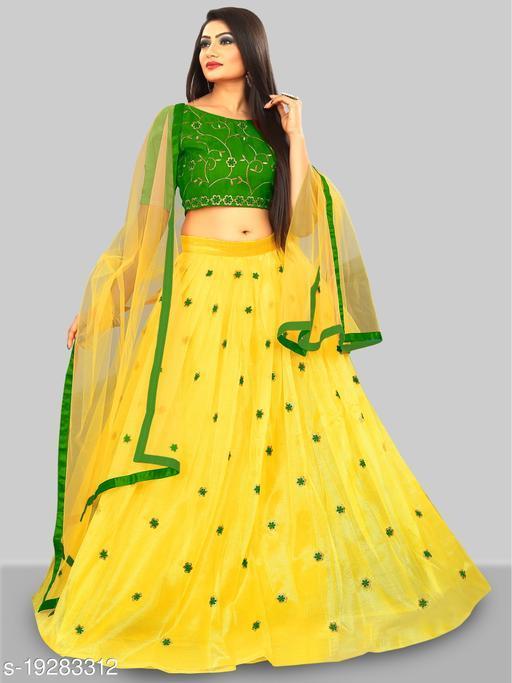 Women's New Rose Green Bollywood Lehenga Choli