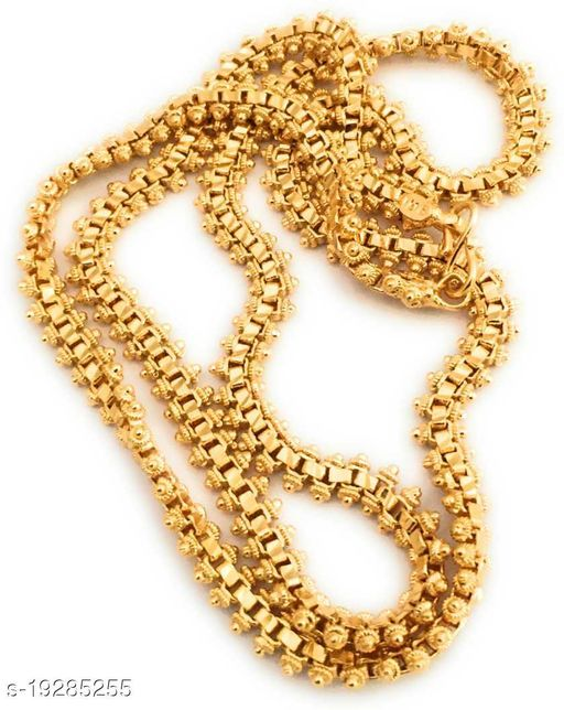 VR Fashion HUB Copper Gold Plated Chain For Women and Girls