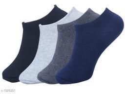 Unisex Cotton Lycra Socks (Pack Of 4)
