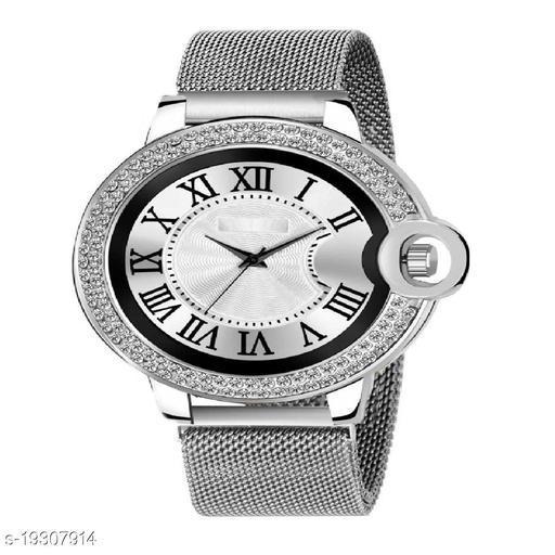 Best Watch Fashion C_13_MenRound design Daimouns Dial Roman Digits Premium Quality Designer Fashion Megnet Belt For Men New Fashion Analog Watch