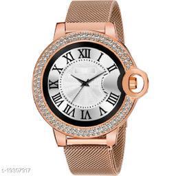 Best Watch Fashion C_13_Men Round design Daimouns Dial Roman Digits Premium Quality Designer Fashion Megnet Belt For Men New Fashion Analog Watch