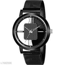 Best Watch Black Round Open Dial Black color maganet strap New Fashion Men Analog Watch