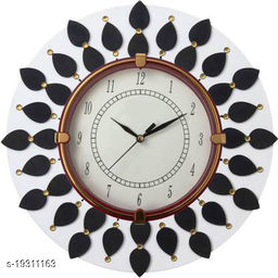 Wooden Wall Clock for Home (White)