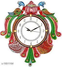 Decorative Design Ajanta Wall Clock for Home Living Room Office Bedroom Decor (15 x 13 Inch )