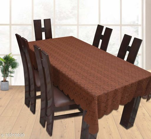 TRENDY DESIGNER DINING TABLE COVER FOR 6 SEATER