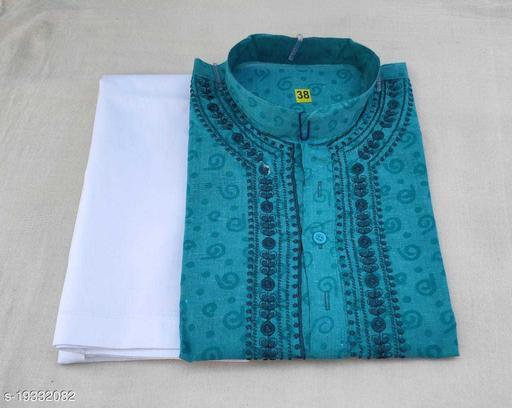 Trendy Cotton Chikankari Kurta Pajama Color Grey
