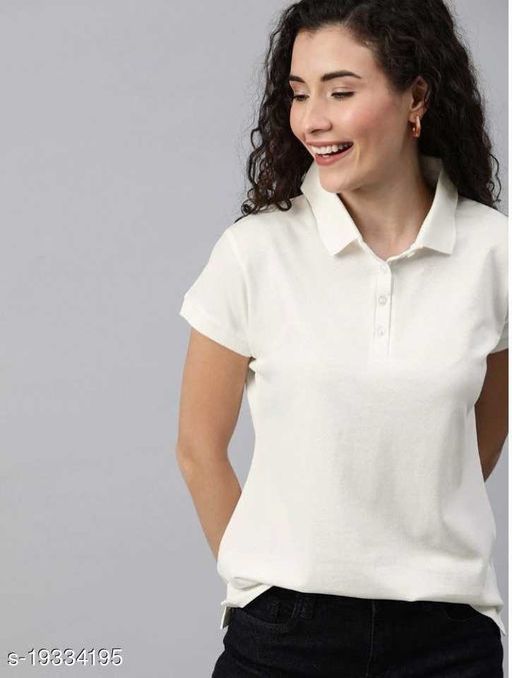 Tribe Fashion Polycotton Polo Half Sleeves Tshirt for Women