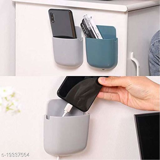Wall Mounted Storage Box Remote Storage Organizer Case for Air Conditioner TV Mobile Phone Plug Holder Stand