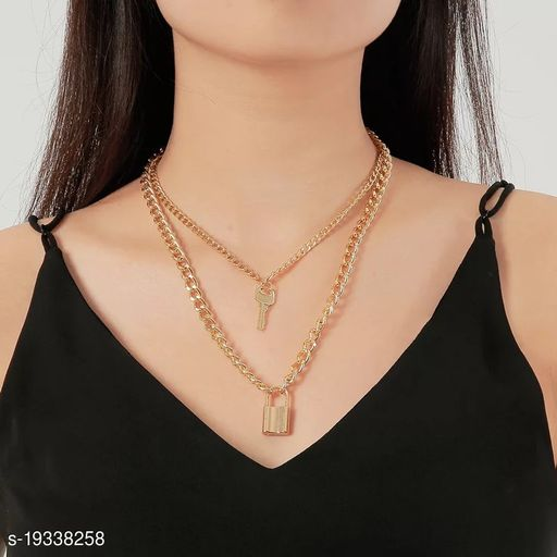 Vembley Save The Day Layered Pendant Necklace