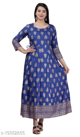 Woman's rayon printed gown