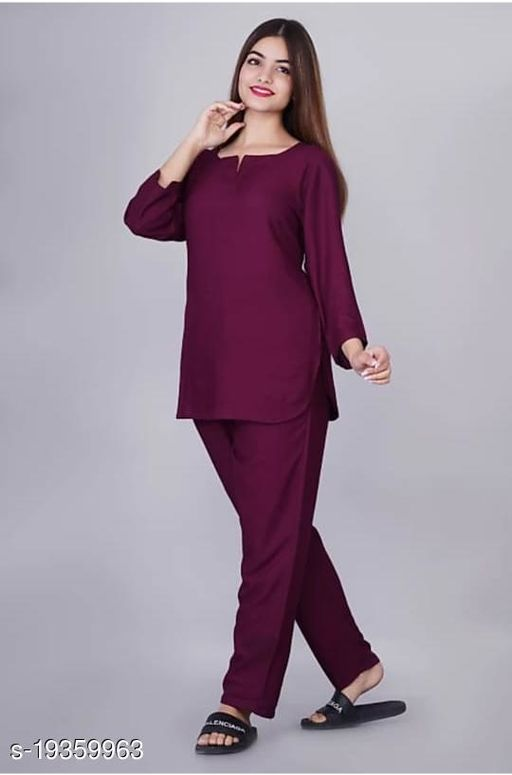 Woman,s rayon night suit