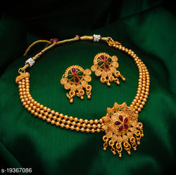 Shizzling Gold Plated Women's Jewellery Set