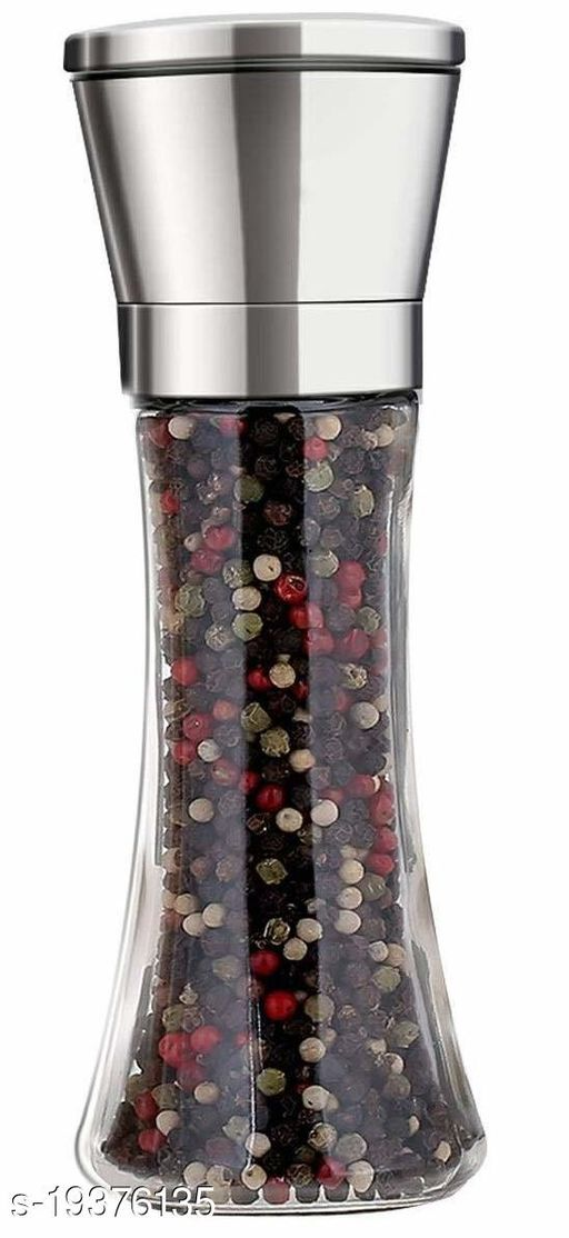 Perfect Pricee Salt and Pepper Crusher - Salt and Pepper Shakers with Adjustable Coarseness by Ceramic Rotor - Stainless Steel Pepper Mill Shaker and Salt Crushers Mills 1 pcs Set