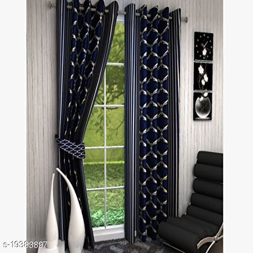 Goodgoods Panipat Printed Polyster Curtain 5 Feet ( Set of 2) for Home Decoration  Offices   Farm House   Stylish Curtain