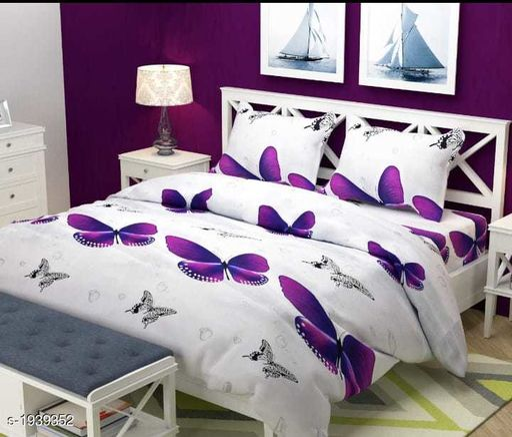 Buy Trendy Microfiber Double Bedsheet