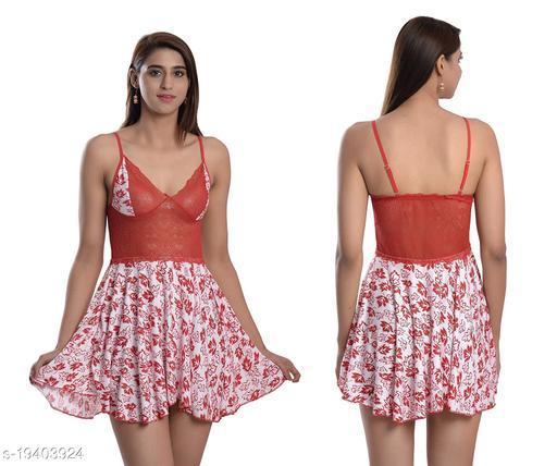 Women's Lace Net Babydoll